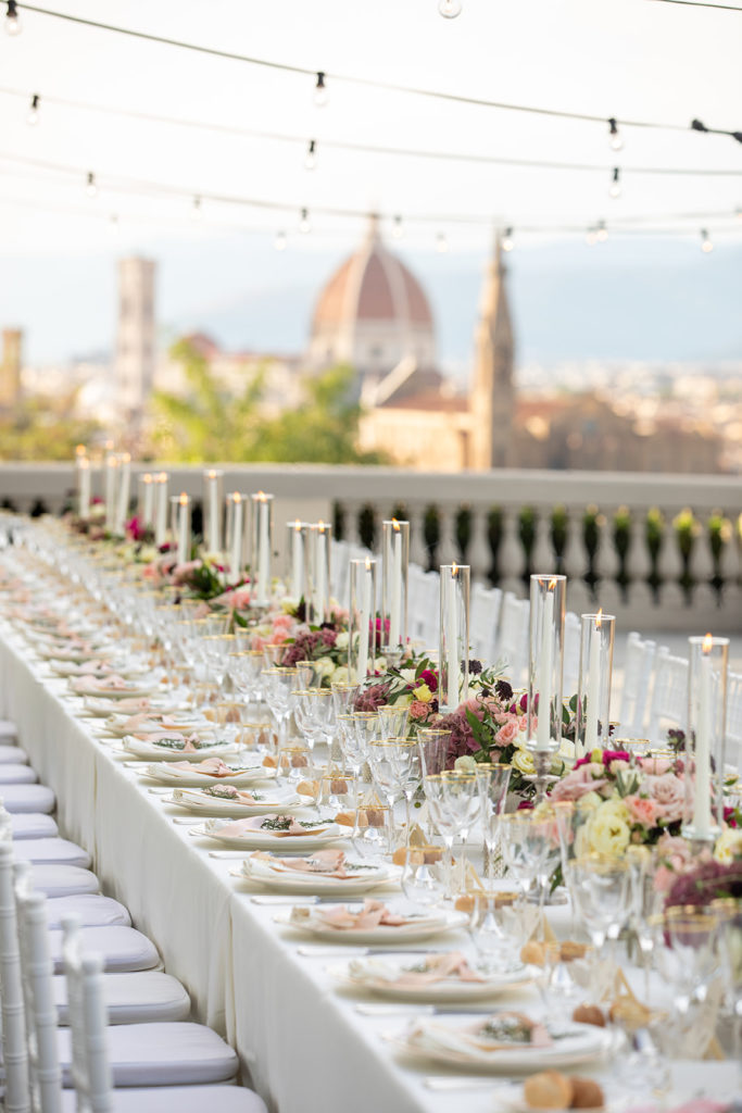 Terrace wedding in Florence, Italy